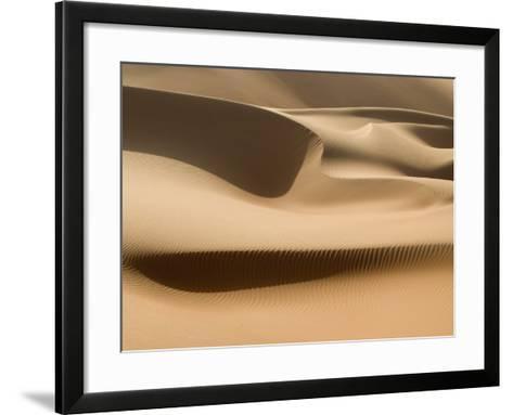 Sand Dunes, Rub Al Khali Desert-Aldo Pavan-Framed Art Print