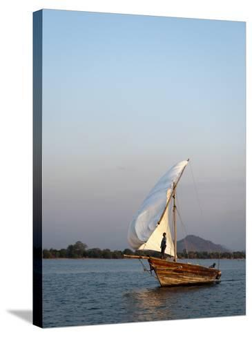 Dhow on Lake Malawi, Cape Maclear-Ariadne Van Zandbergen-Stretched Canvas Print