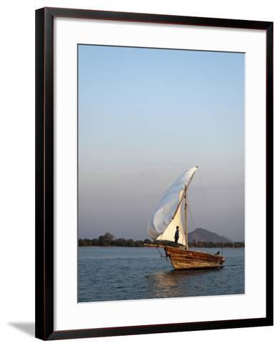 Dhow on Lake Malawi, Cape Maclear-Ariadne Van Zandbergen-Framed Art Print