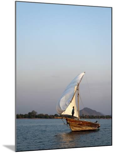 Dhow on Lake Malawi, Cape Maclear-Ariadne Van Zandbergen-Mounted Photographic Print