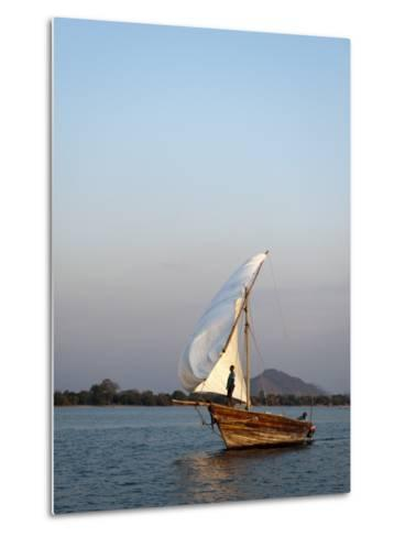 Dhow on Lake Malawi, Cape Maclear-Ariadne Van Zandbergen-Metal Print