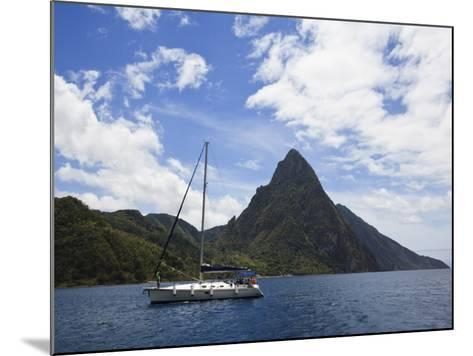 The Pitons on Southwestern Coast-Angus Oborn-Mounted Photographic Print