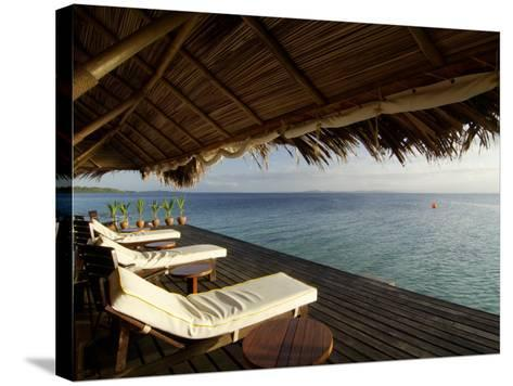 Looking Out to Sea from the Punta Caracol Hotel Verandah-Alfredo Maiquez-Stretched Canvas Print