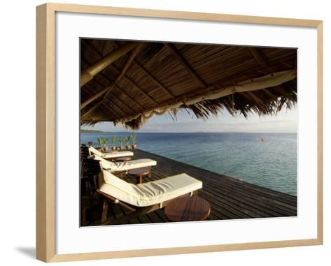 Looking Out to Sea from the Punta Caracol Hotel Verandah-Alfredo Maiquez-Framed Art Print