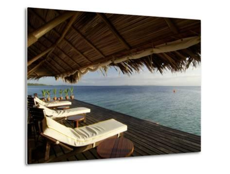 Looking Out to Sea from the Punta Caracol Hotel Verandah-Alfredo Maiquez-Metal Print