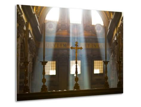 Crosses on Altar in St Peter's Basilica-Richard l'Anson-Metal Print