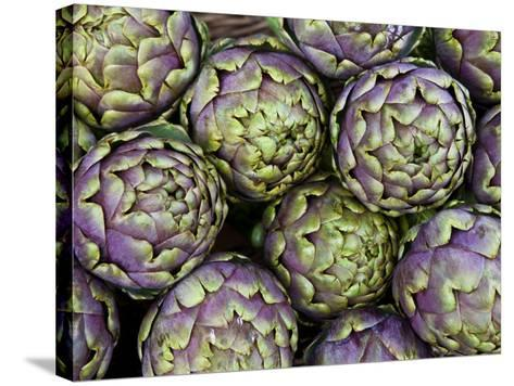 Artichokes for Sale at Market at Campo De' Fiori-Richard l'Anson-Stretched Canvas Print