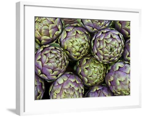 Artichokes for Sale at Market at Campo De' Fiori-Richard l'Anson-Framed Art Print