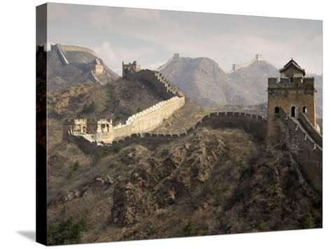 Great Wall of China-Sean Caffrey-Stretched Canvas Print
