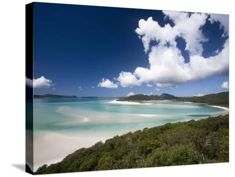 Whitehaven Beach from the Lookout on Whitsunday Island-Tim Barker-Stretched Canvas Print