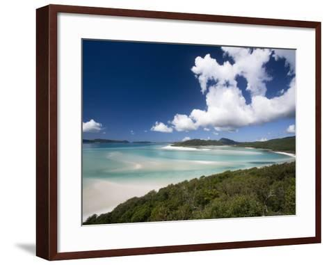 Whitehaven Beach from the Lookout on Whitsunday Island-Tim Barker-Framed Art Print