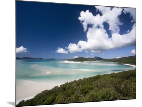 Whitehaven Beach from the Lookout on Whitsunday Island-Tim Barker-Mounted Photographic Print