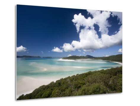 Whitehaven Beach from the Lookout on Whitsunday Island-Tim Barker-Metal Print