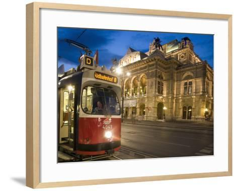 Tram Outside Statsoper (Opera House) at Opernring, Innere Stadt-Richard Nebesky-Framed Art Print