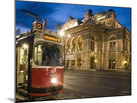 Tram Outside Statsoper (Opera House) at Opernring, Innere Stadt-Richard Nebesky-Mounted Photographic Print
