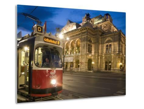 Tram Outside Statsoper (Opera House) at Opernring, Innere Stadt-Richard Nebesky-Metal Print