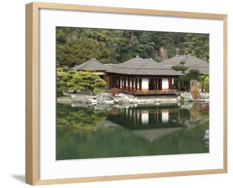 Traditional Japanese Tea House at Ritsurin Park-Seong Joon Cho-Framed Art Print