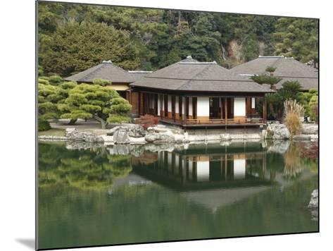 Traditional Japanese Tea House at Ritsurin Park-Seong Joon Cho-Mounted Photographic Print