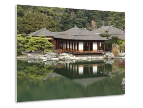 Traditional Japanese Tea House at Ritsurin Park-Seong Joon Cho-Metal Print