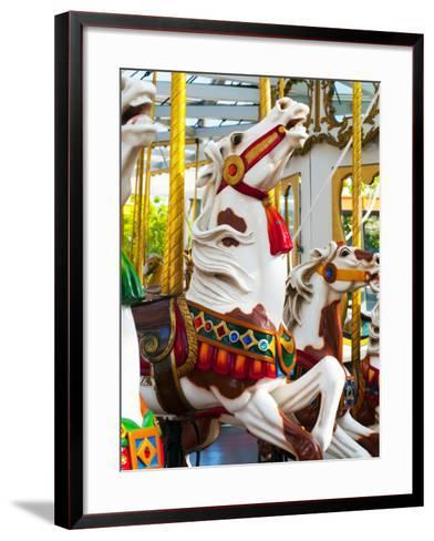 Carousel Horses at Yerba Buena Center for the Arts-Sabrina Dalbesio-Framed Art Print