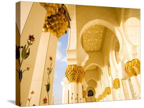 Exterior Archway of Sheikh Zayed Bin Sultan Al Nahyan Mosque-Rogers Gaess-Stretched Canvas Print