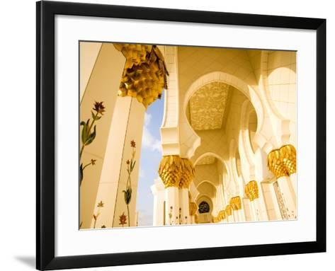 Exterior Archway of Sheikh Zayed Bin Sultan Al Nahyan Mosque-Rogers Gaess-Framed Art Print