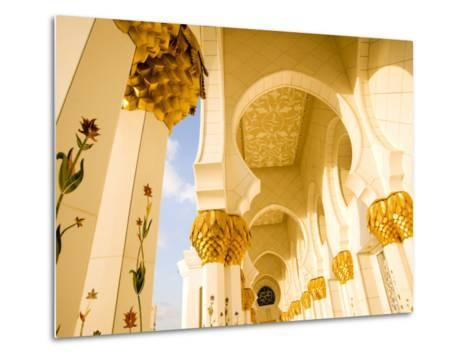 Exterior Archway of Sheikh Zayed Bin Sultan Al Nahyan Mosque-Rogers Gaess-Metal Print