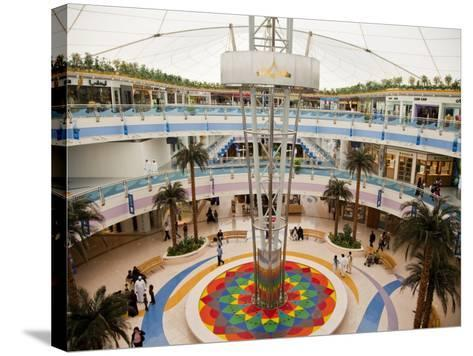 Fountain at Marina Mall Shopping Centre-Richard l'Anson-Stretched Canvas Print