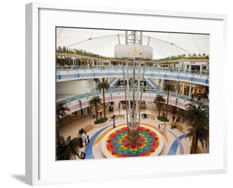 Fountain at Marina Mall Shopping Centre-Richard l'Anson-Framed Art Print
