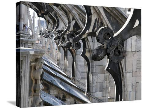 Duomo Architectural Detail-Sabrina Dalbesio-Stretched Canvas Print