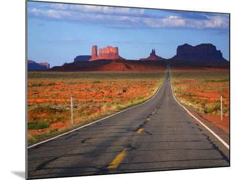 Interstate 163 Approaching Monument Valley with Sentinel Mesa in Backgound-Ruth Eastham & Max Paoli-Mounted Photographic Print