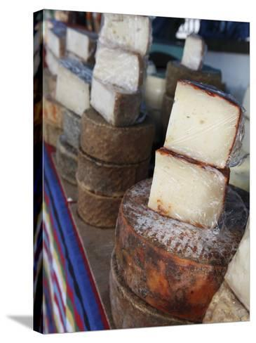 Goat's Cheese on Farmers' Market Stall Near Plaza Nuestra Senora Del Pino-Ruth Eastham & Max Paoli-Stretched Canvas Print