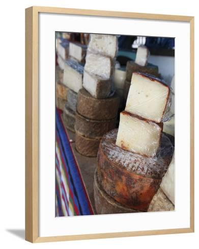 Goat's Cheese on Farmers' Market Stall Near Plaza Nuestra Senora Del Pino-Ruth Eastham & Max Paoli-Framed Art Print