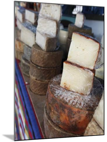 Goat's Cheese on Farmers' Market Stall Near Plaza Nuestra Senora Del Pino-Ruth Eastham & Max Paoli-Mounted Photographic Print