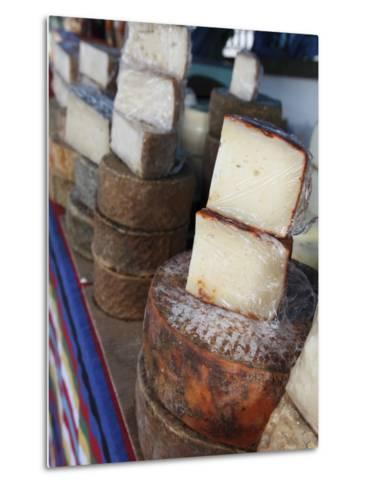 Goat's Cheese on Farmers' Market Stall Near Plaza Nuestra Senora Del Pino-Ruth Eastham & Max Paoli-Metal Print