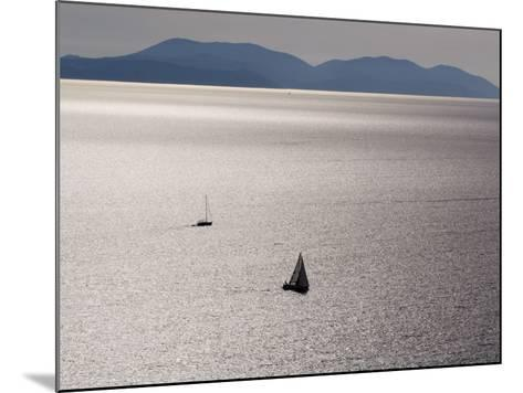 Yachts in Gleaming Sea from Hill Above Zavala-Will Salter-Mounted Photographic Print