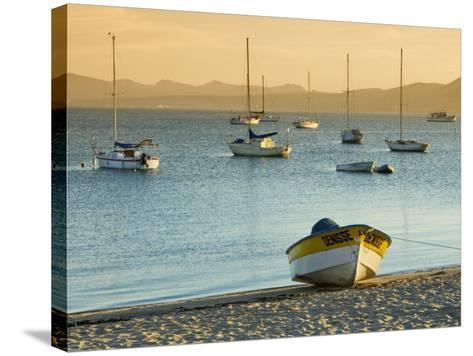Boats on Beach at Sunrise, Seen from the Malecon-Witold Skrypczak-Stretched Canvas Print