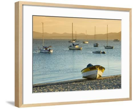 Boats on Beach at Sunrise, Seen from the Malecon-Witold Skrypczak-Framed Art Print