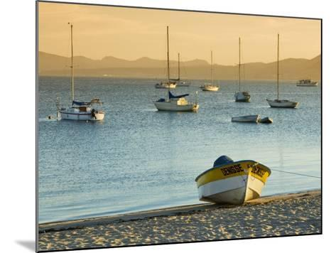 Boats on Beach at Sunrise, Seen from the Malecon-Witold Skrypczak-Mounted Photographic Print