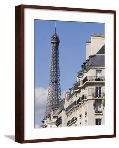 Eiffel Tower and Apartment Building-Will Salter-Framed Art Print