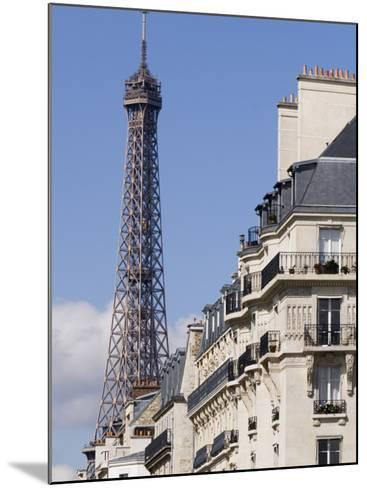 Eiffel Tower and Apartment Building-Will Salter-Mounted Photographic Print