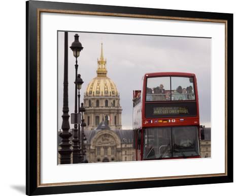 Open Top Tour Bus on Pont Alexandre-Will Salter-Framed Art Print