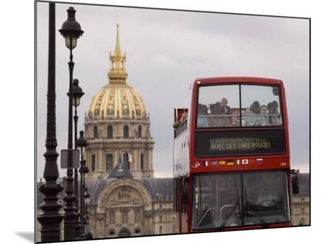 Open Top Tour Bus on Pont Alexandre-Will Salter-Mounted Photographic Print