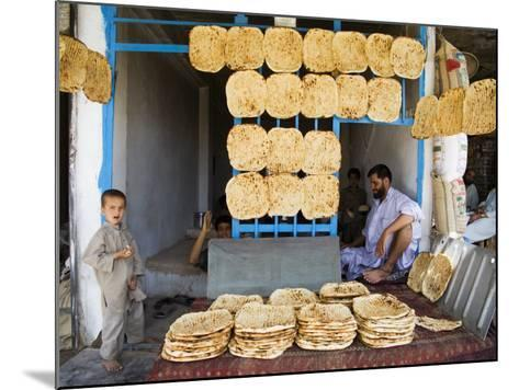 Men and Boys at Traditional Afghan Bakery-Tony Wheeler-Mounted Photographic Print