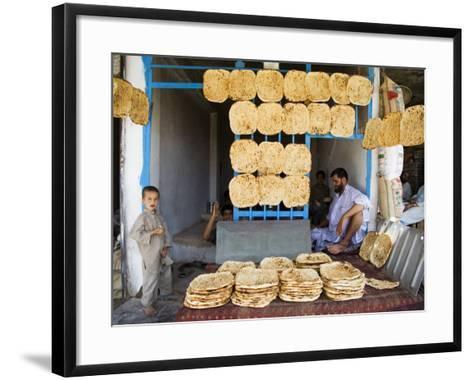 Men and Boys at Traditional Afghan Bakery-Tony Wheeler-Framed Art Print