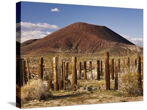 Abandoned Corral in Cinder Cone Lava Beds Area from Aikens Mine Road in Mojave National Preserve-Witold Skrypczak-Stretched Canvas Print