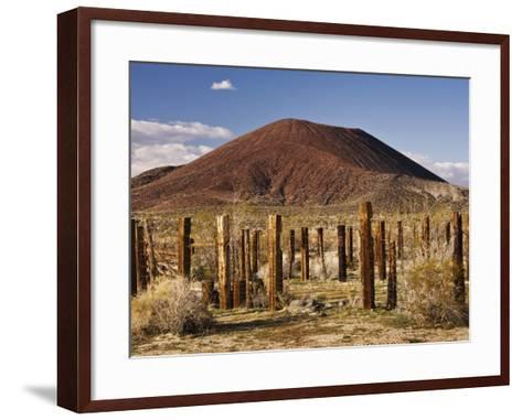 Abandoned Corral in Cinder Cone Lava Beds Area from Aikens Mine Road in Mojave National Preserve-Witold Skrypczak-Framed Art Print