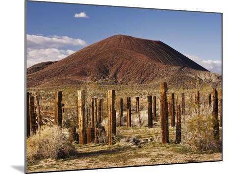Abandoned Corral in Cinder Cone Lava Beds Area from Aikens Mine Road in Mojave National Preserve-Witold Skrypczak-Mounted Photographic Print