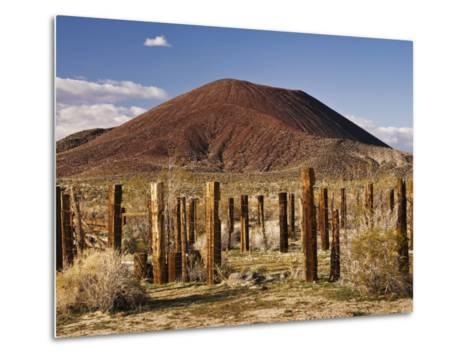 Abandoned Corral in Cinder Cone Lava Beds Area from Aikens Mine Road in Mojave National Preserve-Witold Skrypczak-Metal Print