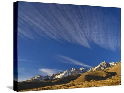 Cirrus Clouds over Eastern Sierra Nevada in Winter Seen from Buttermilk Road Near Bishop-Witold Skrypczak-Stretched Canvas Print
